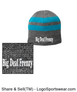 Fleece-Lined Striped Beanie Cap Design Zoom
