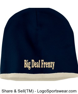 Trimmed Knit Beanie Cap Design Zoom